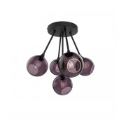 Design By Us Ballroom Molecule Taklampa Black/Purple - Design By Us