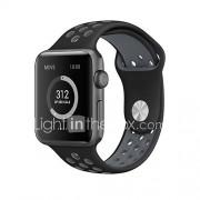 Sportband voor appelwatch serie 1 2 38mm 42mm silicone vervangende horlogeband