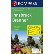 Kompass Carta N.36: Innsbruck Brennero - 1:50.000