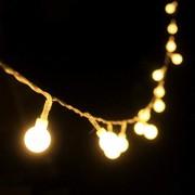 Ghirlanda Luminoasa de Inchiriat 10m cu 100 Globulete, Cablu Transparent, Lumina Calda, Conectabila 200M, de Exterior