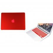 Case Carcasa + Protector De Teclado Para Macbook Retina 13'' Model (A1502/A1425) -Rojo