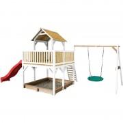 AXI - Atka Play Tower avec balançoire Nid rond 'Summer' Brun/blanc