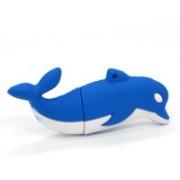 Green Tree Blue whale USB Flash Drive 8 GB Pen Drive(White, Blue)