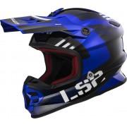 LS2 MX456 Light Evo Rallie Motocross hjälm Blå L