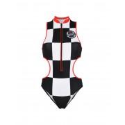 レディース GIGI HADID x TOMMY HILFIGER ONE-PIECE ZIP CUT OUT 水着(ワンピース) ブラック