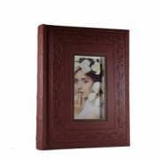 Album foto pentru poze 10 x 15cm Sulim 200 fotografii piele ecologica Slip-In Maro personalizabil