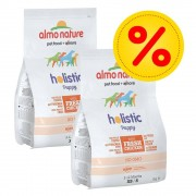 Almo Nature Holistic Fai scorta! 2 x 2 kg Almo Nature Holistic Small - Grain Free Adult con Maiale & Patate
