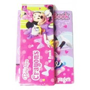 """Disney Minnie Mouse Bow-tique Mini Coloring Book with Crayons (2.5"""" x 3.5"""", 4 crayons)"""