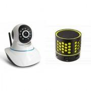 Zemini Wifi CCTV Camera and S10 Bluetooth Speaker for LG OPTIMUS L5(Wifi CCTV Camera with night vision |S10 Bluetooth Speaker)