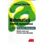 Pocket Teacher Matematica Analiza matematica Vol. I - Vasile Pletea Melania Pletea