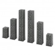vidaXL Gabion Set 6 pcs Wall Galvanized Wire Different Sizes