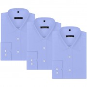 vidaXL 3 db S méretű világoskék üzleti férfi ing