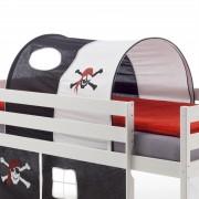 IDIMEX Tunnel MAX für Spielbett Hochbett, in schwarz/weiß PIRAT