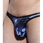 Mategear Nan Song V Front Tapered Sides Thin Nylon Special Fabric Series Signature Ultra Bikini Underwear Blue Camo 1860705