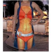 Sort de bucatarie femeie sexy portocaliu