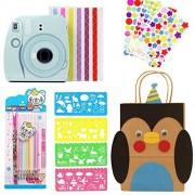 Hurricanes álbum de fotos DIY accesorios kits para Fujifilm Instax Mini 8 8+ 9 SQ6 10 20-álbum de fotos con pegatinas de esquina, pegatinas decorativas, tarjetas de plantilla, lápices de colores, bricolaje Kraft bolsa de papel