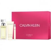 Calvin Klein Eternity lote de regalo XII. eau de parfum 100 ml + leche corporal 100 ml + eau de parfum 10 ml