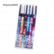 6 pcs/set Cute pens ballpoint pens Black color gel pen set Cartoon kitty Office accessories School supplies Long 15cm