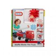 Blocuri De Constructie - Masina De Pompieri.76 piese de joc