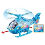 Rotating Musical Aircraft Bump and Go Action Battery Operated Helicopter for Kids 2268 (Big) -Assorted