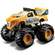 Maisto - Earth Shockers Monster Truck with Huge Tyres - Metallic Yellow (4.5 Inches)