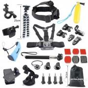 Kit de accesorios para camaras de deporte 29-en-1 para gopro hero? 4 sesiones - negro