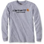 Carhartt Core Logo Camisa de manga larga Gris XXL