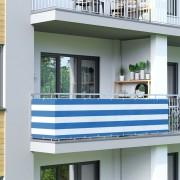 Jarolift Malla de Ocultación para Balcón, Basic, Tejido Transpirable, Azul-blanco, 500 cm
