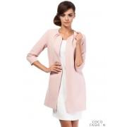Pink Elegant Long Blazer