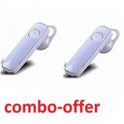 Wireless Mono Bluetooth Headset HD Voice Headset With wind noise-reduction technology(COMBO-PACK OF 2)