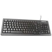 Cherry Tastiera Nero Cablato PS/2, USB , QWERTY (US) Compatta, G84-5200LCMEU-2