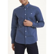 Easy Mens Slim Fit Oxford Shirt in Large, Blue