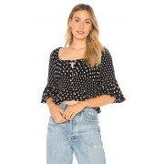 Free People A Bit Of Something Sweet Top in Black. - size L (also in M,S)