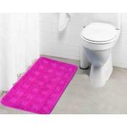 Lushomes Ultra Soft Microfiber Polyester Pink Large Bath Mat