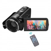 """Digitale Video Camera Full HD 1080 P Draagbare Camcorders DV 3.0 """"Roterende LCD Touchscreen 16x Zoom 24MP Anti-shake Camcorder"""