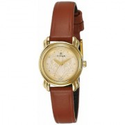 Titan Analog Gold Dial Women's Watch - 2534YL04
