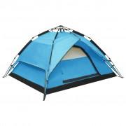 vidaXL Pop up палатка за къмпинг 2-3-местна 240x210x140 см синя