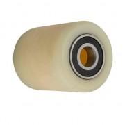 80 mm ? raklapmozgató béka görgő 70 mm széles polyamid 17, 20, 25 mm válaszható tengely átmérő