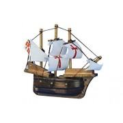 """Wooden Santa Maria Tall Model Ship Magnet 4"""" New Tall Ships Historically Si"""
