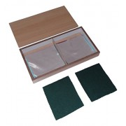 Kido Montessori Materials - Sensorial - Fabric Boxes (8 pairs of fabrics with different textures))