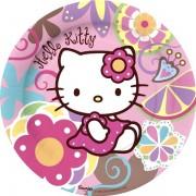 Set 8 farfurii mari Hello Kitty