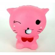 Squishy Antistress Pisica roz Parfumat cu Revenire Lenta (Roz)