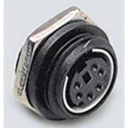 Jack mini-DIN mamă, 4 pini, PCB, negru, BKL Electronic 0204035