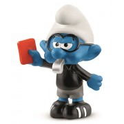 Schleich Soccer Smurf Referee Toy Figurine