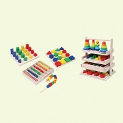 Math Combo Set - Wooden Toys - Brainsmith - Early Learning - Hand eye coordination - Fine Motor Skill - Concentration buidling - Counting Skills - Brain Development - Preschool Toys - Mathematics Toys - Birthday gift - Return Favour - Play and Learn - Chi