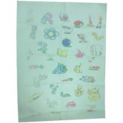 Quick Dry Bed Protector Printed - 619 S Sea Green
