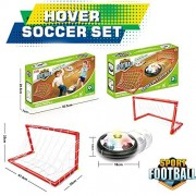 Kids Sports Toys Air Powered Electric Soccer Football Goal Set Hover Ball with 2 Gates LED Air Power Training Ball Indoor Outdoor Disk Game with LED Lights and Mini Screwdriver