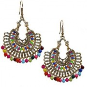 Lucky Jewellery Trendy Multi Color Oxidised Plating Earring For Girls & Women