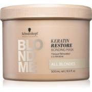 Schwarzkopf Professional Blondme mascarilla reparadora para tonos rubios 500 ml
