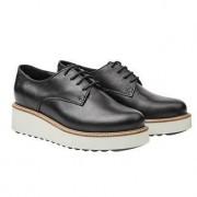 Apple of Eden derby-schoenen met plateau, 40 - zwart